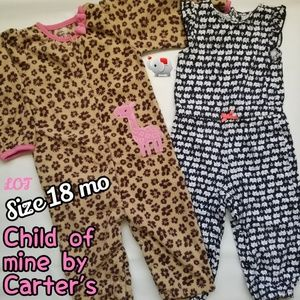 Child of mine Carter`s baby girl LOT Size 18 mo